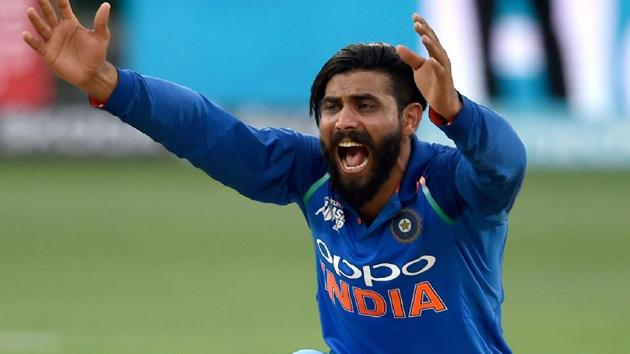 Ravindra Jadeja has become India's leading wicket-taker in Asia Cup.(AFP)