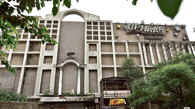 A view of the Uphaar cinema's property at Green Park in New Delhi, India, on Wednesday, September 5, 2018.(Sanchit Khanna / HT Photo)