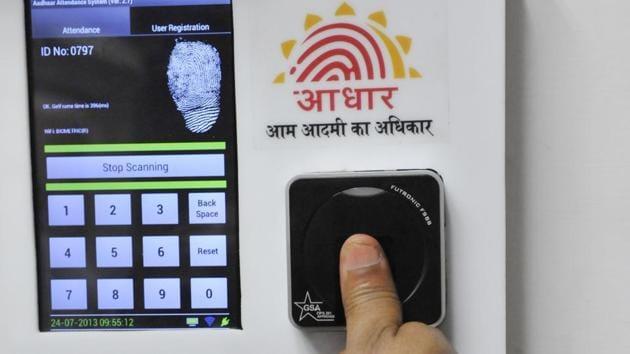 The UIDAI collects demographic and biometric data of an individual during enrolment.(Vipin Kumar/HT Photo)