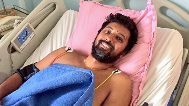 Naval officer Abhilash Tomy, who was rescued from international waters earlier this week after his yacht was damaged, undergoes treatment in a remote Indian Ocean island, Ile Amsterdam.(PTI Photo)