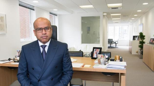 Sanjeev Gupta of Liberty House at his Mayfair office in London.(AP File Photo)