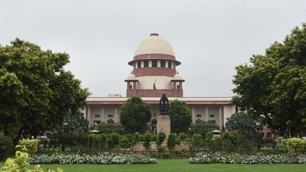 A view of the Supreme Court in New Delhi, India .(Sonu Mehta/HT PHOTO)