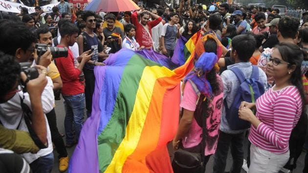 The Supreme Court in India on Sept. 6 scrapped a colonial-era law that punished gay sex with up to 10 years in jail, raising hopes among activists worldwide, including in Africa, for similar reforms elsewhere.(Samir Jana/HT PHOTO)