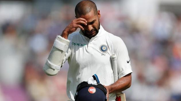 Shikhar Dhawan was not included in the India squad for the Test series against West Indies.(REUTERS)
