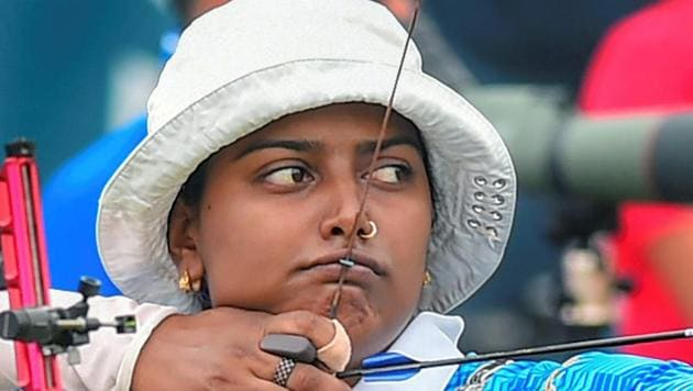 Deepika Kumari was in action at the Archery World Cup Finals in Samsun on Sunday.(PTI)