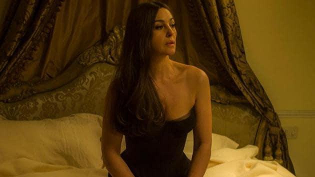 Monica Bellucci in a still from Spectre.