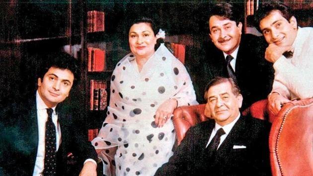 The late Raj Kapoor and wife Krishna Raj Kapoor had five children together, Randhir Kapoor, Ritu Kapoor Nanda, Rishi Kapoor, Rima Kapoor Jain and Rajiv Kapoor. (Instagram)