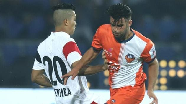 NorthEast United FC and FC Goa played out a 2-2 draw in the Indian Super League (ISL) 2018.(Twitter)