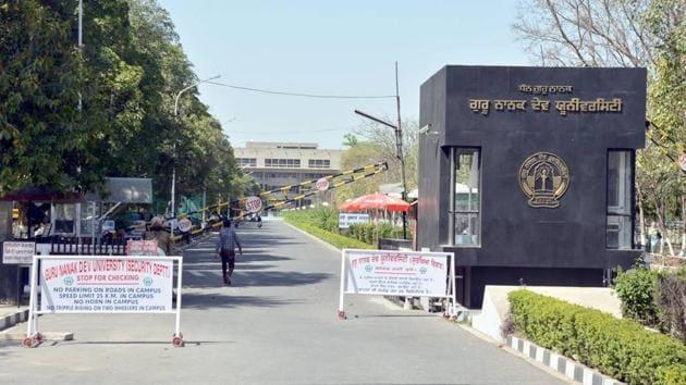 Guru Nanak Dev University in Amritsar.(HT Photo)