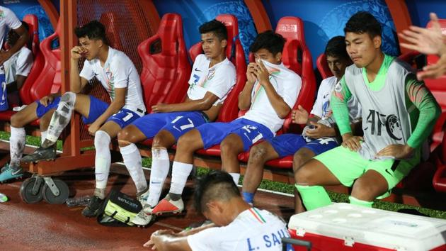 India were beaten 0-1 by South Korea in the quarter-finals of the AFC U-16 Championship.(AIFF)