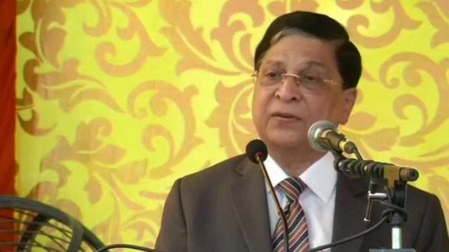 The outgoing chief justice on India Dipak Misra said that justice must have a human face.(ANI Photo)