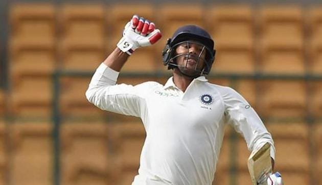 Mayank Agarwal scored runs consistently in the domestic circuit before being named in the India squad for the two-Test series against the West Indies.(PTI)