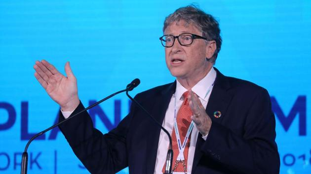 Bill Gates was speaking at the Goalkeepers event in New York that showcased efforts made to meet the UN's sustainable development goals.(AFP/File Photo)