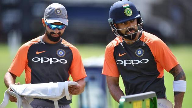 File picture of Ajinkya Rahane and Virat Kohli(AFP)