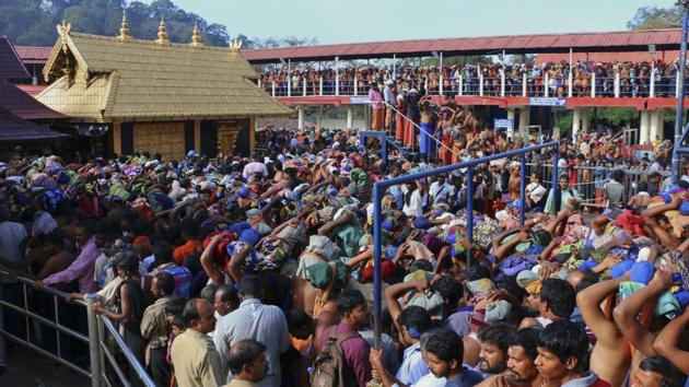 Kerala chief minister Pinarayi Vijayan said no one has the right to prevent women devotees if they want to go to the shrine and offer worship.(AP File)