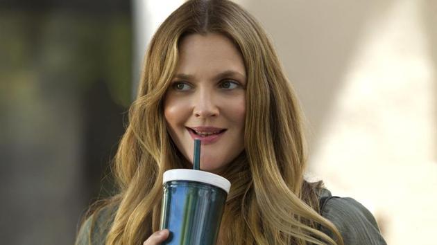 Drew Barrymore in a still from her Netflix show, Santa Clarita Diet.