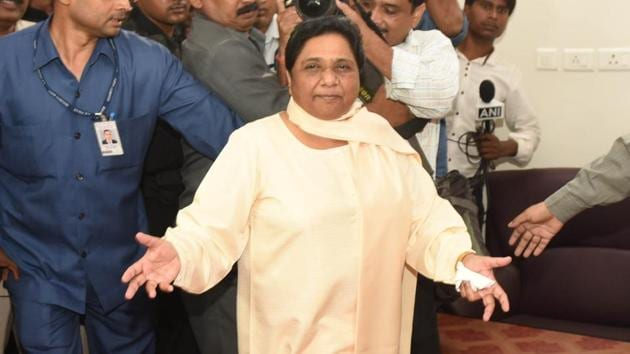 BSP chief Mayawati on Wednesday ruled out an alliance with the Congress in two key states and launched a furious attack on the leadership of the grand old party.(Subhankar Chakraborty/HT File Photo)