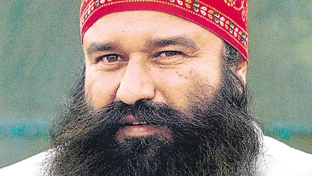Spiritual head of Dera Sacha Sauda sect Gurmeet Ram Rahim Singh.(HT File Photo)