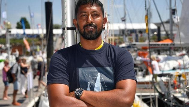 Days after being rescued from the Indian Ocean in a multi-nation operation, commander Abhilash Tomy, who was under medical observation at Ile Amsterdam, was brought to Visakhapatnam safely onboard INS Satpura Saturday.(AFP File Photo)
