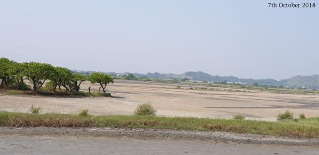 The destruction of Panje wetlands in Uran, Navi Mumbai, in less than six months.(Aishwarya Sridhar)