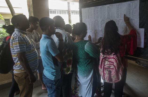 After seven admission rounds, 89% of the total students, who had registered, got admission into colleges across the Mumbai Metropolitan Region (MMR).(Pic for representation/HT)