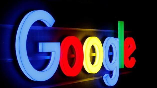 An illuminated Google logo is seen inside an office building in Zurich on September 5.(REUTERS)