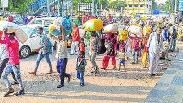 Bihari migrants leaving Gujarat following the backlash.(File Photo)
