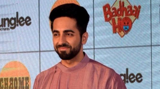 Ayushmann Khurrana during Badhaai Ho promotion in Mumbai on October 10, 2018.(IANS)