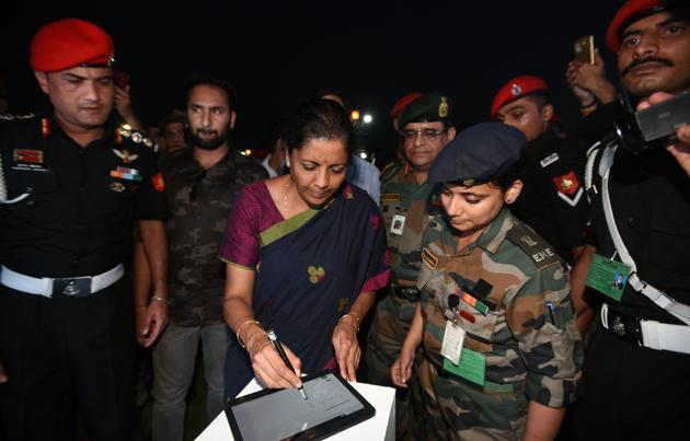 Nirmala Sitharaman is expected to visit Dassault's Rafale fighter jet manufacturing facility on Friday.(Sonu Mehta/HT PHOTO)