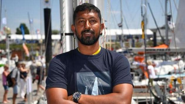 Abhilash Tomy was participating in this year's Golden Globe Race (GGR), a circumnavigation challenge involving solo participants, and which bars the use of modern technology.(AFP/File Photo)