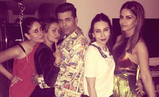 Kareena Kapoor Khan, Amrita Arora, Karan Johar, Karisma Kapoor and Natasha Poonawalla partied in style. (Instagram)