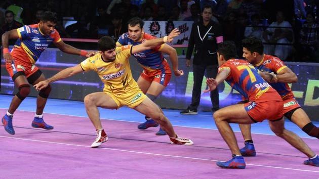 Telugu Titans earned their second consecutive win.(Pro Kabaddi)