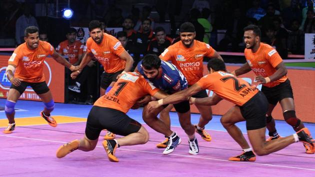 U Mumba have won two and tied one of their three matches in Pro Kabaddi league 2018.(Pro Kabaddi)