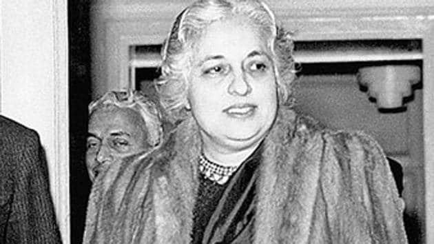 Vijayalakshmi Pandit, who was Jawaharlal Nehru's sister, was elected UN General Assembly president in 1953.(Getty Images)