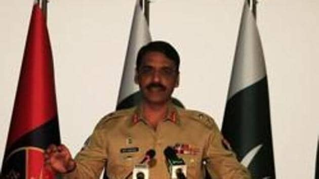 Director general of Inter Services Public Relations (ISPR), Maj. Gen. Asif Ghafoor speaks during a news conference in Rawalpindi, Pakistan on April 17.(Reuters)