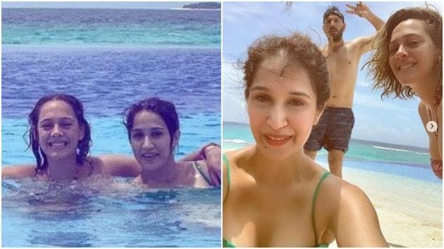 Sagarika Ghatge and Hazel Keech enjoyed a week-long vacation with their husbands in Maldives.(Instagram)