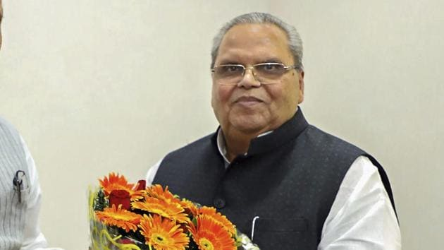 Jammu and Kashmir governor Satya Pal Malik on Sunday said that his administration has taken up the issue of the well-being of Kashmiri students studying in Aligarh Muslim University (AMU) with the Uttar Pradesh government.(PTI)