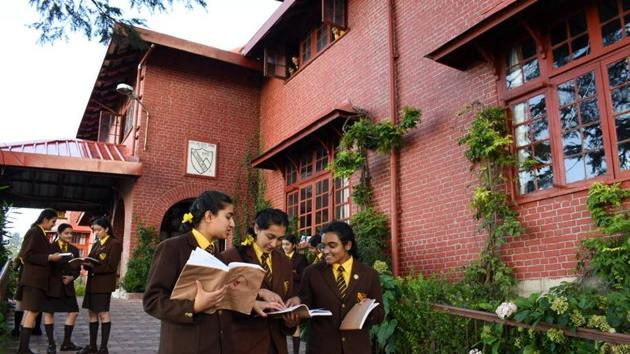The bare-brick and red-brick façades lend the 152-year-old institution a quaint old-world charm. It was the home of viceroy of India George Eden (1836 -1842), better known as Lord Auckland, in the first half of the 19th century.(HT Photo)