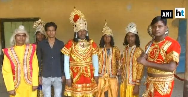 This Ramleela was started back in 1972 in Lucknow's Bakshi Ka Talab area.(ANI Photo)