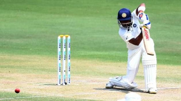 Indian cricketer Prithvi Shaw plays a shot during the second day's play of the second Test cricket match between India and West Indies at the Rajiv Gandhi International Cricket Stadium in Hyderabad on October 13, 2018.(AFP)