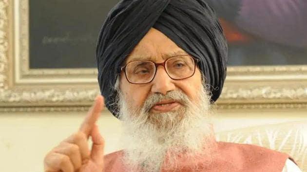 Former Punjab CM Parkash Singh Badal(HT File)