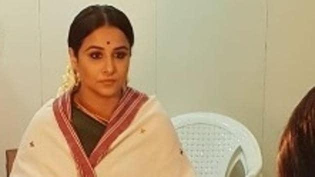 Vidya Balan as Basavatarakam in NTR biopic.(Instagram)