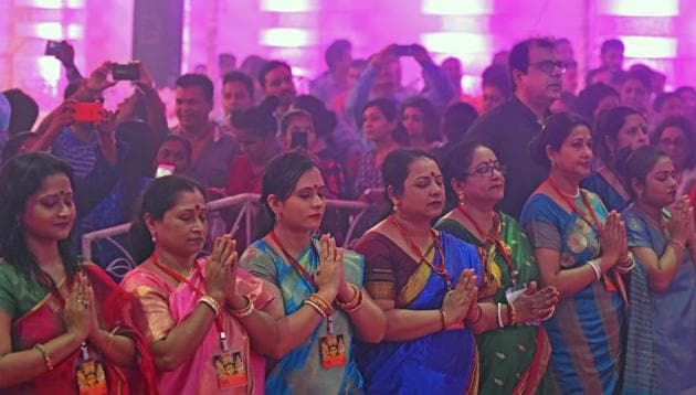 Each colour of Navratri represents a different spirit and narrative in context of the many avatars of Goddess Durga.(HT File Photo)