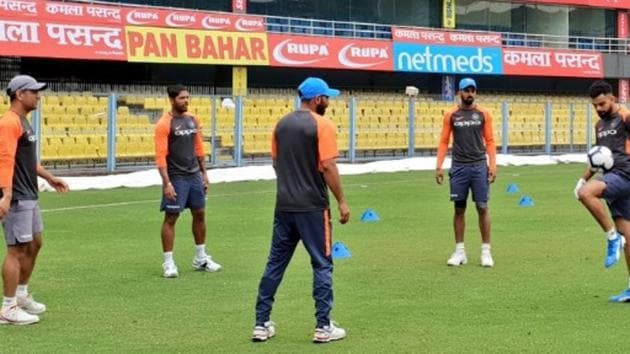 India vs West Indies: Virat Kohli, MS Dhoni play football in training ahead of Guwahati...