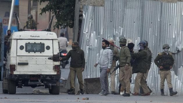 As the cordon was tightened, the militants fired at the security forces, police said.(AP)