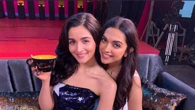 Alia Bhatt and Deepika Padukone graced the first episode of Karan Johar's talk show Koffee With Karan.(Twitter)