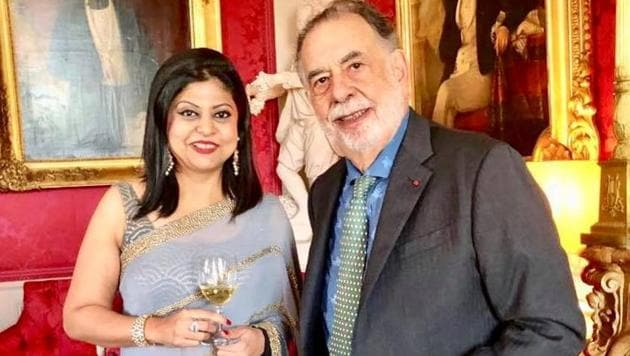 Sonal Holland with Francis Ford Coppola