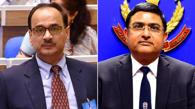 CBI chief Alok Verma (left) and deputy Rakesh Asthana have been stripped of charge.