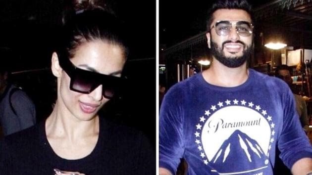 Malaika Arora and Arjun Kapoor were spotted returning from Italy at Mumbai airport. (Instagram)