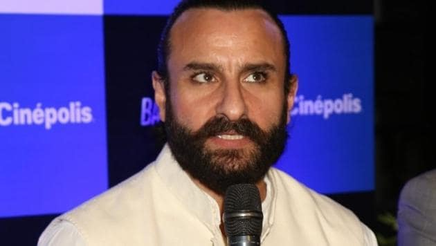 Saif Ali Khan at a press conference during the promotion of his upcoming film Baazaar in New Delhi.(IANS)